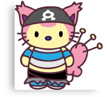 Hello Skitty - Team Aqua Grunt Canvas Print