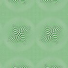 Check Swirl - Green & White by Sookiesooker