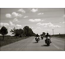 Three Bikers Photographic Print