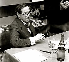 Tennessee Williams signing books in the 1970's in New York by Daniel Sorine
