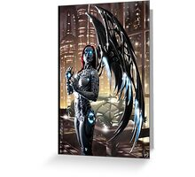 Robot Angel Painting 009 Greeting Card