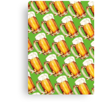 St. Patricks Day - Beer Pattern Canvas Print