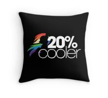 20% Cooler! (ALL options) - BLACK Throw Pillow
