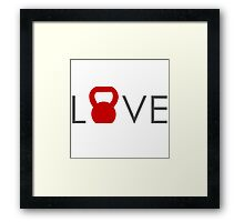 Love Crossfit Framed Print