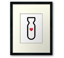 Love Bomb! Framed Print