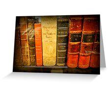 Jefferson's  Bookshelf Greeting Card