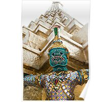 Warrior of the Emerald Buddha temple Poster