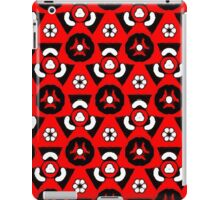 Red triangles and white flower pattern iPad Case/Skin
