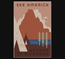 Travel Poster: Montana Kids Clothes