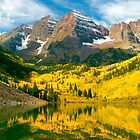Maroon Bells - Aspen, CO by Dave Mortell