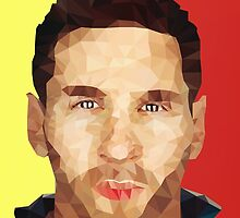 Lionel Messi Polygon by parbo30