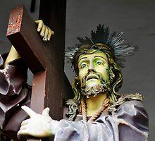 Jesus, Via Crucis, Guimaraes, Portugal by Monica Di Carlo