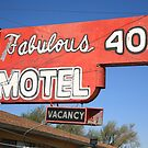 Route 66 - Fabulous 40 Motel by Frank Romeo