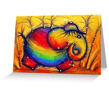 Rainbow Elephant Greeting Card