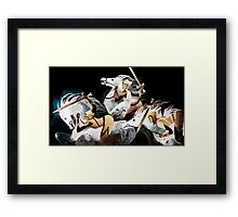 Three warriors Framed Print