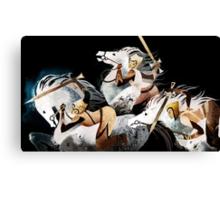 Three warriors Canvas Print