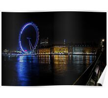 The London Eye on the South Bank Poster