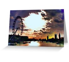 London - Winter Noon Greeting Card