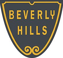 Beverly Hills Street Sign Print  by movieshirtguy