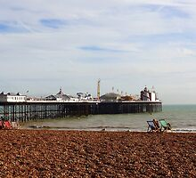 "UK: ""Relaxing at Brighton Beach"", Brighton & Hove by Kelly Sutherland"
