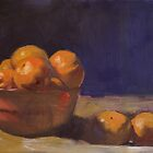 Bowl of Oranges by Les Castellanos