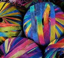 Colorful yarn by Jeff Stroud