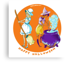real witches color-coordinate Canvas Print