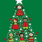 Christmas Tree Kids by fatfatin