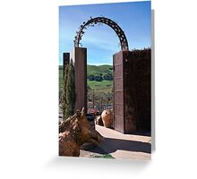 Garden Gateway at Viansa Winery, Sonoma Valley Greeting Card