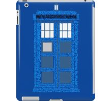 Doctor Who Quotes (Blue BG) iPad Case/Skin