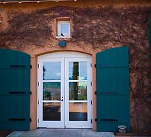 Shuttered Doorway Reflections, Viansa Winery, California by MarkEmmerson