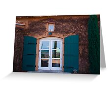 Shuttered Doorway Reflections, Viansa Winery, California Greeting Card