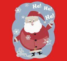 Naughty Santa Claus T-Shirt by Jamie Wogan Edwards