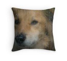 Rainy Day Dog Throw Pillow