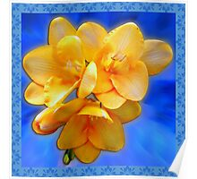Freesia with Ant Poster