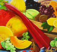 Lots of fruit and veg by Natalija Vocanec