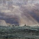 John Brett - A North-West Gale off the Longships Lighthouse 1872 by Adam Asar