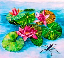 """Water lilly and the water bug by """" RiSH """""""