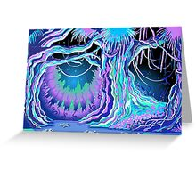 Magic Tale Blacklight Forest Background Greeting Card