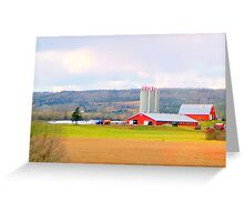 Farm country Greeting Card