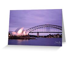 Sunset with operahouse 0.2 Greeting Card