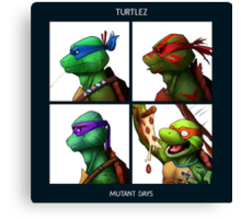 Turtlez - Mutant Days Canvas Print