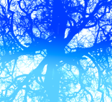tree branch vessels darkart lungs black blue RISHAMA  Sticker