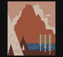 Travel Poster: Montana (Close-up) Kids Clothes