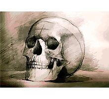 Hand drawing scull Photographic Print