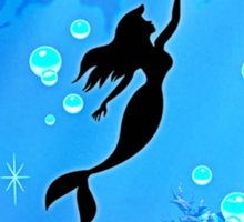 Mermaid Blue Sea Sticker