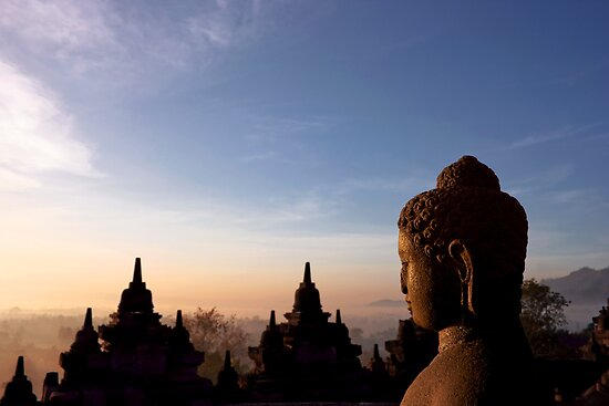 Borobodur Sunrise by Ine Beerten