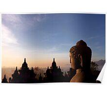Borobodur Sunrise Poster