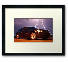 Dodge Lightning Framed Print