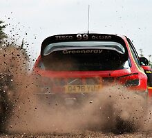 Rally Car in Power Slide by Azza